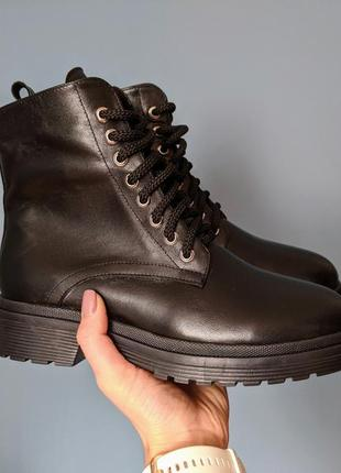 Качество люкс! женкские кожаные ботинки сапоги