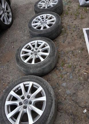 Диски Mazda R17 114.3  с резиной  лето jinyu 225 55 17