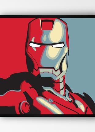 """Постер в раме """"Iron Man / Железный Человек"""" (50x50 см.) #3"""