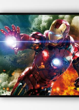 """Постер в раме """"Iron Man / Железный Человек"""" (50x50 см.) #6"""