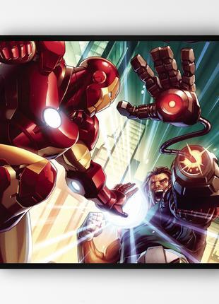 """Постер в раме """"Iron Man / Железный Человек"""" (50x50 см.) #10"""