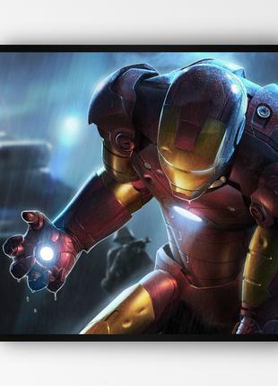 """Постер в раме """"Iron Man / Железный Человек"""" (50x50 см.) #14"""