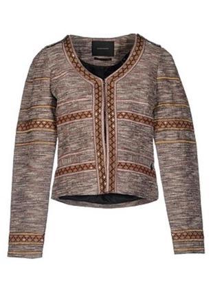 Пиджак жакет женский красивый интересный латэ бежевый коричнев...