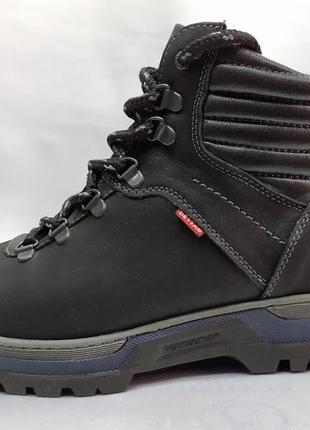 Скидка!зимние чёрные комфортные ботинки-берцы detta