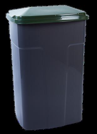 Бак мусорный 90л. (темно-серый/зеленый)