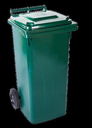 Контейнер для твердых бытовых отходов 120л. (зелёный)