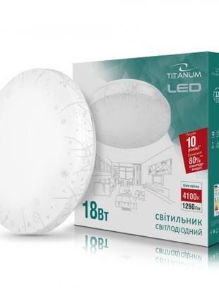LED светильник настенно-потолочный TITANUM 18W 4100K 220V (TLC...