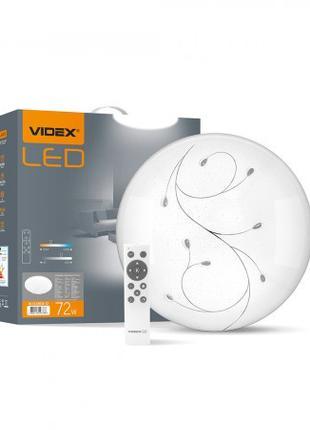 LED светильник функциональный круглый VIDEX GLANZ КАПЛИ 72W 28...
