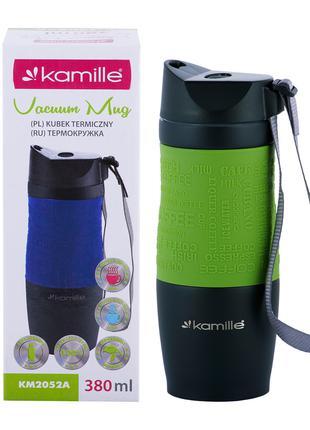 Термокружка Kamille Зеленый 380мл из нержавеющей стали KM-2052AZL