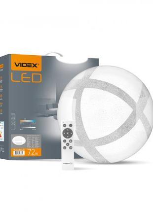 LED светильник функциональный круглый VIDEX GLANZ 1 72W 2800-6...