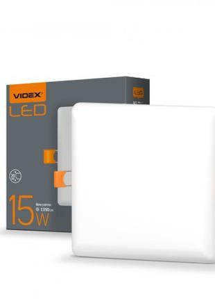 LED светильник безрамочный квадратный VIDEX 15W 4100K 220V 20 ...