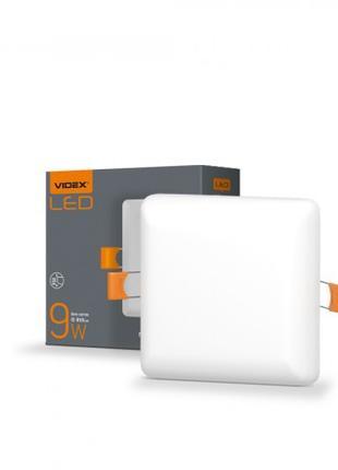 LED светильник безрамочный квадратный VIDEX 9W 4100K 220V 20 ш...