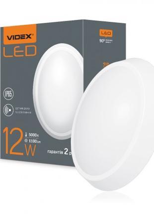 LED светильник (ЖКХ) овальный VIDEX 12W 5000K 220V белый сенсо...