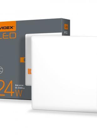 LED светильник безрамочный квадратный VIDEX 24W 4100K 220V 20 ...
