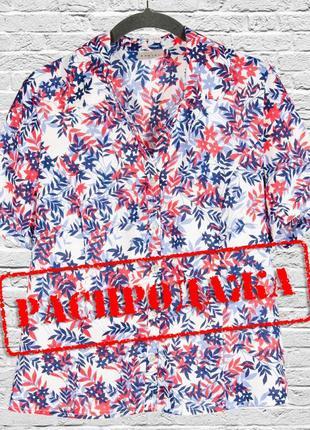 Летняя рубашка с коротким рукавом, свободная рубашка летняя ко...