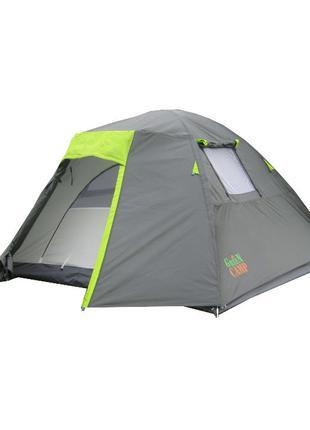 Палатка для туризма 4-х местная GreenCamp 1013-4