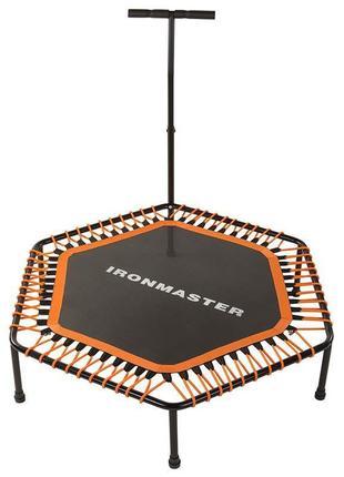 "Фитнес батут с ручкой, 50""(126см) IronMaster, оранж"