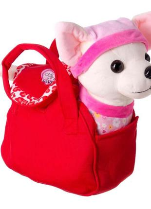 Мягкая игрушка Собака в сумке 5451