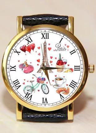 Часы Эйфелева башня, женские часы, часы Париж, часы любовь