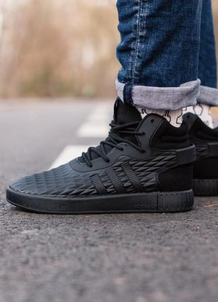 Adidas tubular invander black мужские демисезонные кроссовки а...