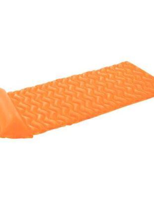 Надувной матрас для плавания intex 58807 с подушкой (Оранжевый)