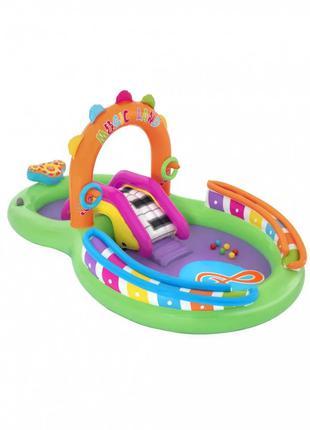 Детский игровой надувной центр BW 53117 с горкой