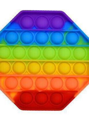 Антистресс Pop It брелок ромб, круг разноцветный 014