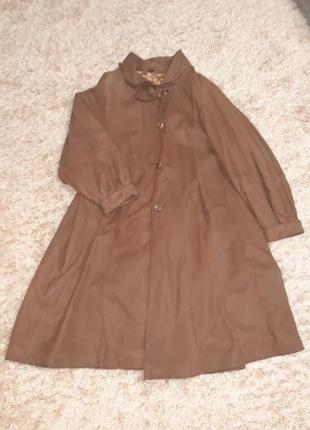 Пальто натуральное замшевое