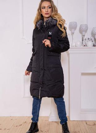 Куртка длинная пальто на синтепоне еврозима