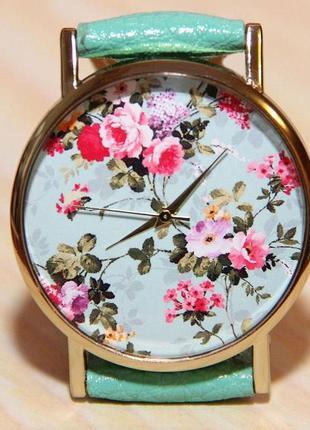 Часы цветы, женские цветы, часы розы, часы подарок