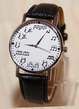 Часы ноты, часы музыкальные, женские часы, мужские часы