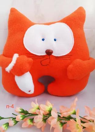 Подушка игрушка Кот с мышкой