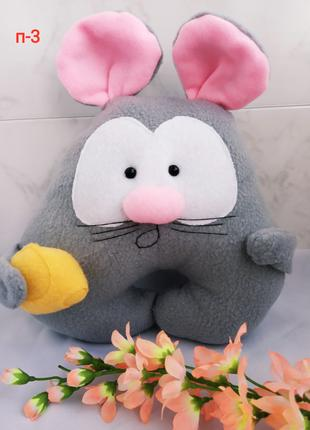 Подушка игрушка мышка с сыром