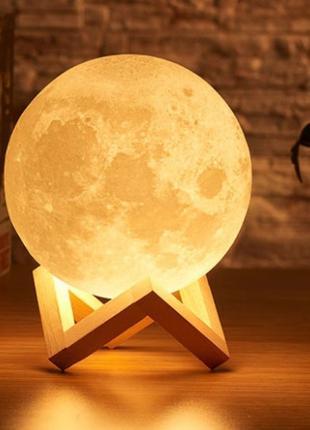 Настольный светильник 3D Moon Touch Control