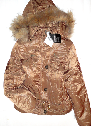 Зимняя куртка р.м ог 90, холофайбер + натуральный мех енот