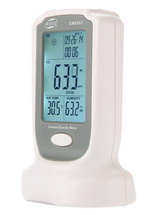 Газоанализатор углекислого газа + термогигрометр (0-2000 ppm,0...
