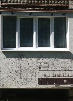 Роспись балкона.