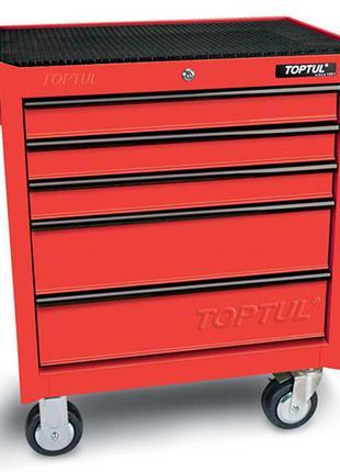 Тележка для инструмента TOPTUL 5 секций (красная) TCAA0502
