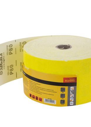 Шлифовальная бумага рулон 115мм×50м P80 SIGMA (9114251)