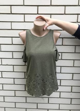 Блузка футболка с открытыми плечами superdry