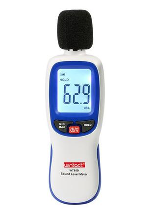 Измеритель шума (шумомер) Bluetooth 30-130 дБ WINTACT WT85B