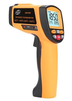 Лазерный бесконтактный цифровой пирометр 200-1850°C BENETECH G...