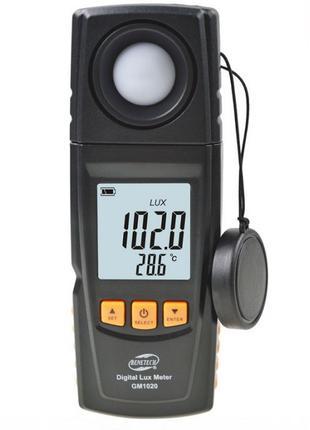 Измеритель освещенности люксметр + термометр, USB 200000 Lux B...