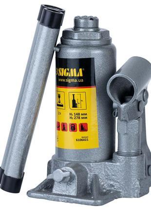 Домкрат гидравлический бутылочный 2т H 148-278мм Standard SIGM...