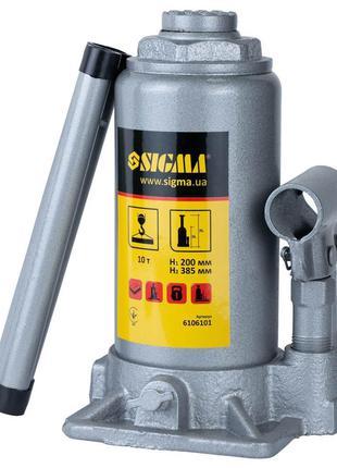 Домкрат гидравлический бутылочный 10т H 200-385мм Standard SIG...