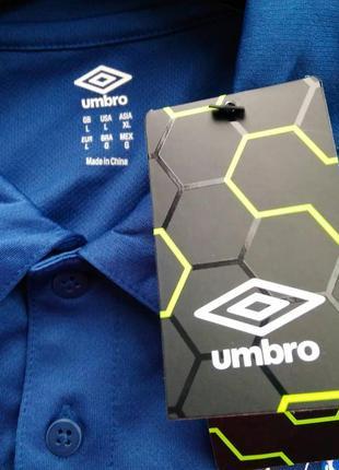 Оригинал!брендовая футболка поло с логотипом бренда umbro mt, р.l