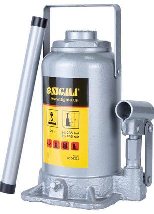 Домкрат гидравлический бутылочный 20т H 235-445мм Standard SIG...
