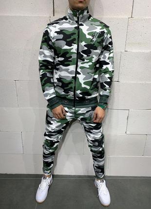Мужской Спортивный костюм хаки качество супер