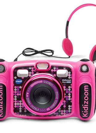 VTech kidizoom duo детский фотоаппарат с mp3 плеером розовый 5...