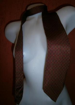Винтажный галстук шелк стремена